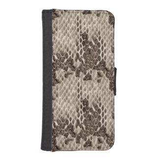 Faux Snakeskin Print Phone Wallet Case