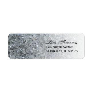 Faux Sparkle Return Address Label