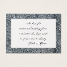 Faux Sparkle Wedding Charity Favor Card at Zazzle