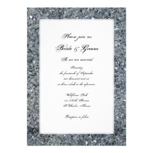 Faux Sparkle Wedding Invitation