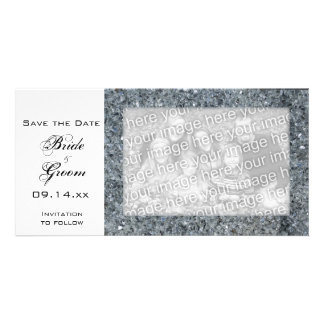 Faux Sparkle Wedding Save the Date Photo Card