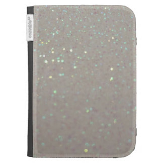 Faux Sparkles & Glitter - cream girly kindle case