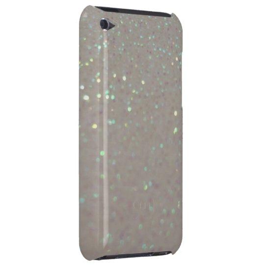 Faux Sparkles & Glitter - Girly cream ipod case
