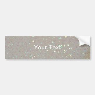 Faux Sparkles & Glitter - Pastel Cream White Bumper Sticker