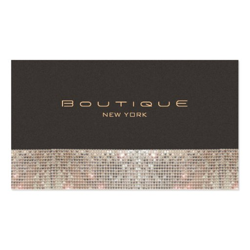 FAUX Sparkling Sequins and Suede Fashion Boutique Double-sided Standard Business Cards (pack Of 100)