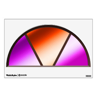 Faux Stained Glass Window Wall Decal
