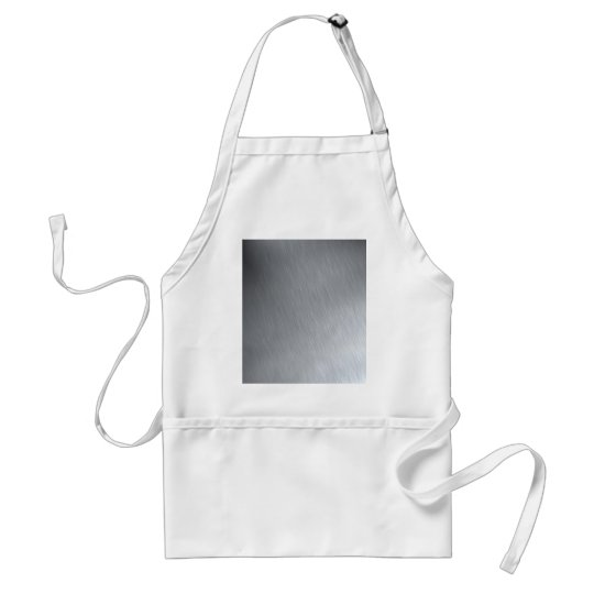 Faux Stainless Steel Adult Apron
