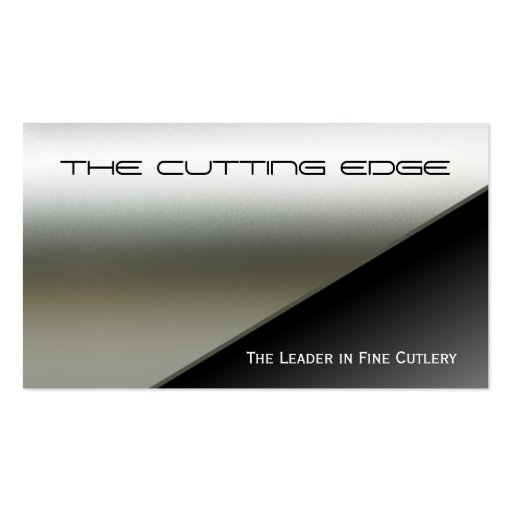 Faux Stainless Steel Business Card