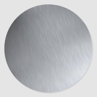 Faux Stainless Steel Classic Round Sticker