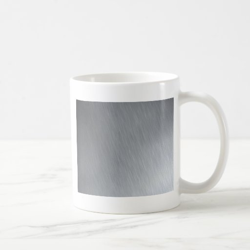 Faux Stainless Steel Classic White Coffee Mug