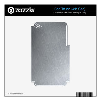 Faux Stainless Steel Decals For iPod Touch 4G