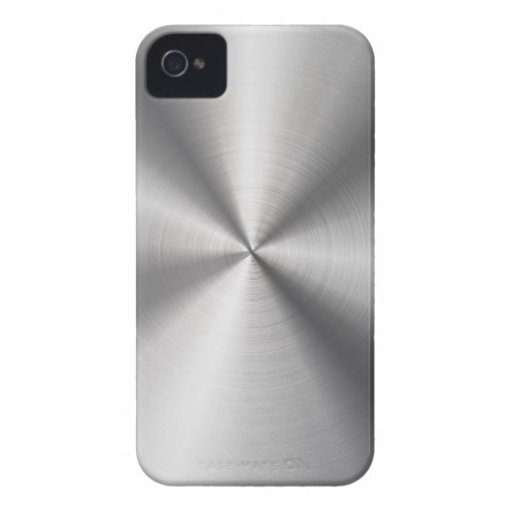 Faux Stainless Steel Metal Case-Mate iPhone 4 Case