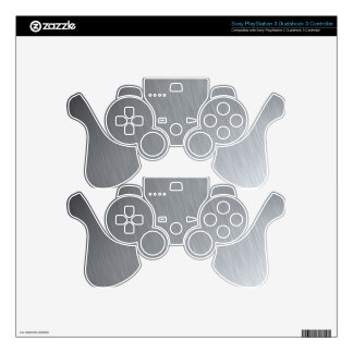 Faux Stainless Steel Skins For PS3 Controllers