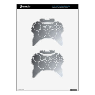 Faux Stainless Steel Xbox 360 Controller Skins