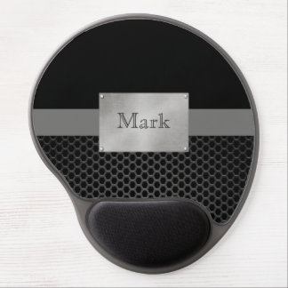 Faux Steel Nameplate Personalized Gel Mouse Pad
