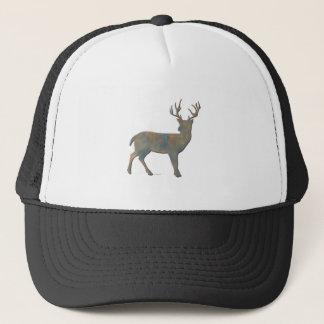Faux Stone Buck Trucker Hat