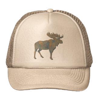 Faux Stone Moose Trucker Hat
