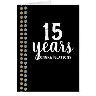 Faux studs universal employee anniversary card