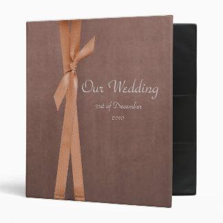 Faux Suede Binder with ribbon Wedding album