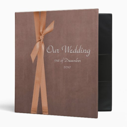 Faux Suede Binder with ribbon Wedding album