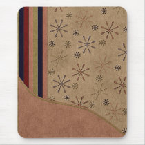 Faux Suede Flower Design Mousepad