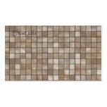 Faux Tan Floor Tile Image Business Card