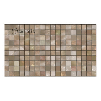 Faux Tan Floor Tile Image Double-Sided Standard Business Cards (Pack Of 100)