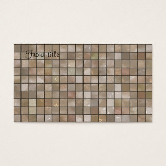 Faux Tan Floor Tile Image Business Card