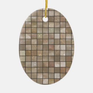 Faux Tan Floor Tile Image Ceramic Ornament