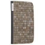 Faux Tan Floor Tile Image Kindle Keyboard Case