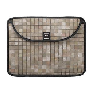 Faux Tan Floor Tile Image Sleeves For MacBook Pro