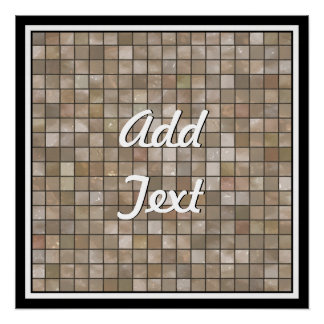 Faux Tan Floor Tile Image Perfect Poster