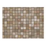 Faux Tan Floor Tile Image Post Card