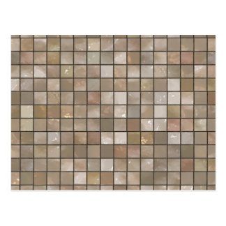Faux Tan Floor Tile Image Postcard