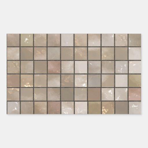 Faux Tan Floor Tile Image Rectangular Sticker Zazzle