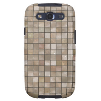 Faux Tan Floor Tile Image Samsung Galaxy S3 Cases