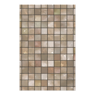 Faux Tan Floor Tile Image Stationery Paper
