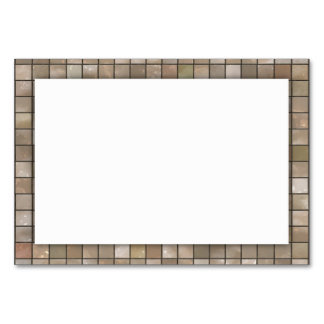 Faux Tan Floor Tile Image Table Cards