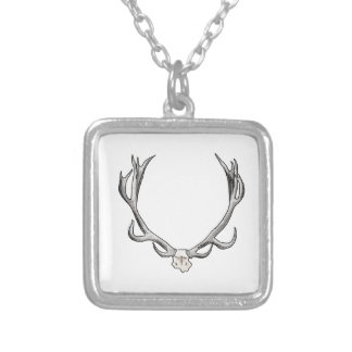 Faux Taxidermy Antler Study VOL 1 Personalized Necklace