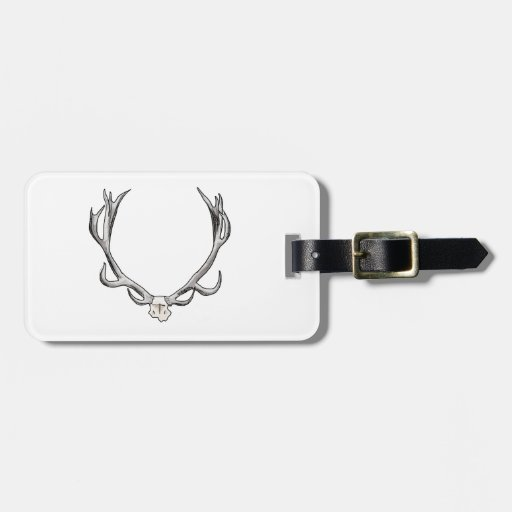 Faux Taxidermy Antler Study VOL 1 Travel Bag Tags