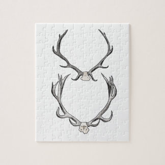 Faux Taxidermy Antler Study VOL 2 Jigsaw Puzzles