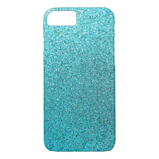Faux Teal Blue Glitter Background Sparkle Texture iPhone 7 Case