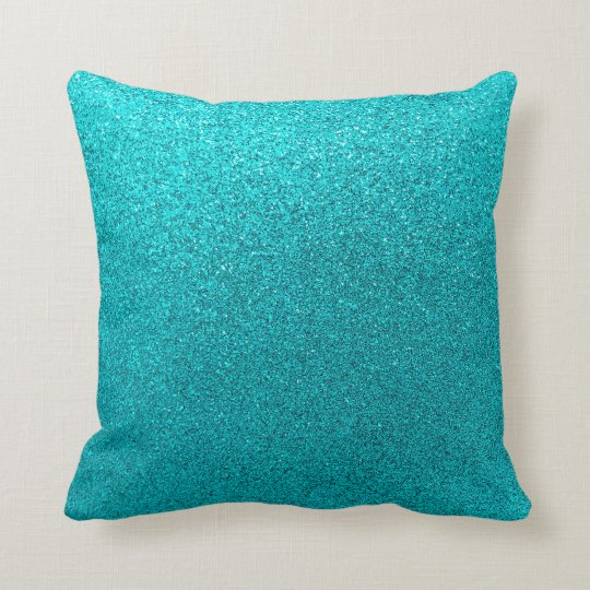 Faux Teal Blue Glitter Background Sparkle Texture Throw