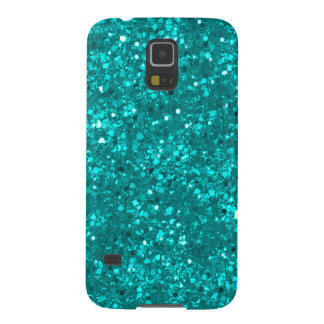 Faux Teal Glitter Case For Galaxy S5
