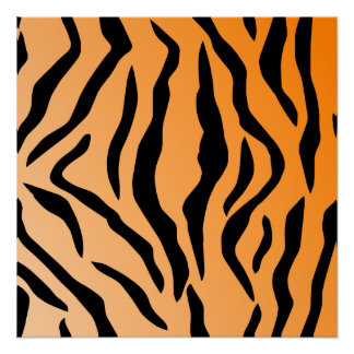 Faux Tiger Print