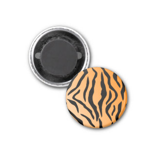 Faux Tiger Print 1 Inch Round Magnet