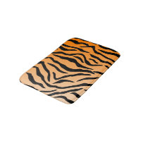 Faux Tiger Print Bath Mat