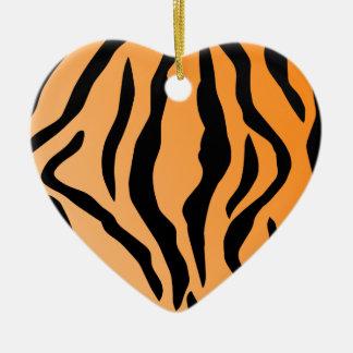 Faux Tiger Print Ceramic Ornament
