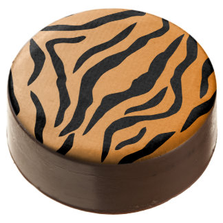 Faux Tiger Print Chocolate Covered Oreo