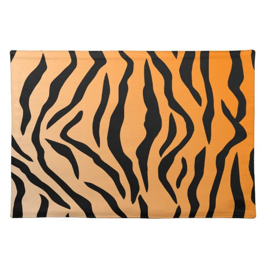 b916444f8f Faux Tiger Print Cloth Placemat
